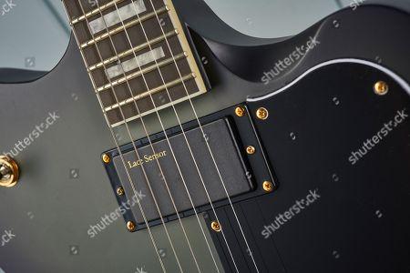 Detail Of The Lace Sensor Divinator Humbuckers On A Ltd Sparrowhawk Bill Kelliher Signature Electric Guitar