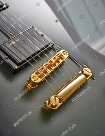 Detail Of The Lace Sensor Divinator Humbuckers And Tonepros Locking Tailpiece On A Ltd Sparrowhawk Bill Kelliher Signature Electric Guitar