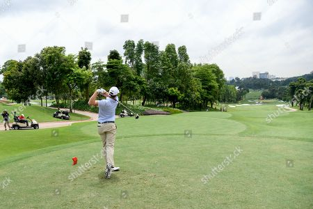 Nick Watney of the United States in action on second round