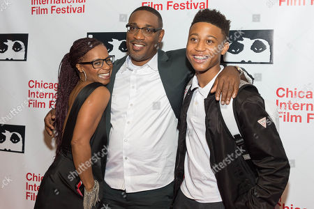 Stock Picture of Marcia Wright-Tillman, George Tillman, Jr., and Chase Tillman