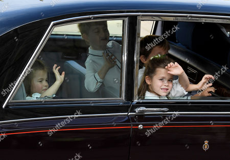Stock Image of Princess Charlotte and Prince George and Theodora Williams