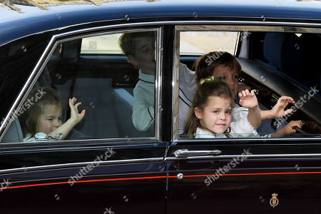 Princess Charlotte and Prince George and Theodora Williams