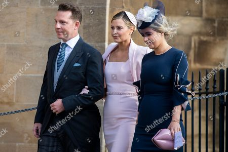 British businessman Nick Candy (L) and Holly Candy (C)  arrive ahead of the royal wedding ceremony of Princess Eugenie of York and Jack Brooksbank at St George's Chapel at Windsor Castle, in Windsor, Britain, 12 October 2018.