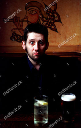 Shane MacGowan Singer. Formerly With Pop Group The Pogues. In Pub Drinking To Celebrate St Patricks Day.