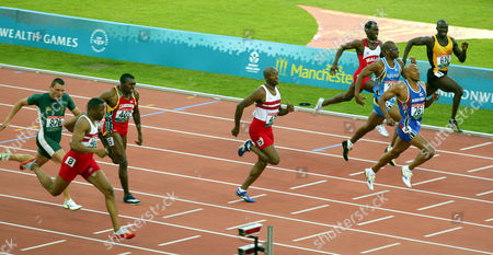 Xv11 Commonwealth Games Manchester.  mens 200m Frankie Fredericks Marlon Devonish And Darren Campbell Take The Medals