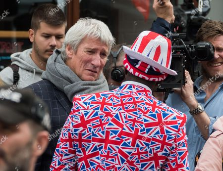 Jeremy Paxman in Windsor on the day of Princess Eugenie's wedding to Jack Brooksbank