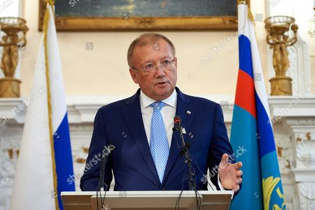 Editorial picture of Russian Ambassador to Britain press conference in London, United Kingdom - 12 Oct 2018