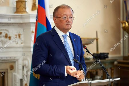 Editorial photo of Russian Ambassador to Britain press conference in London, United Kingdom - 12 Oct 2018
