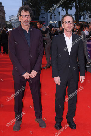 Editorial photo of 'The Ballad of Buster Scruggs' premiere, BFI London Film Festival, UK - 12 Oct 2018