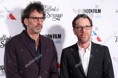 Editorial picture of 'The Ballad of Buster Scruggs' premiere, BFI London Film Festival, UK - 12 Oct 2018