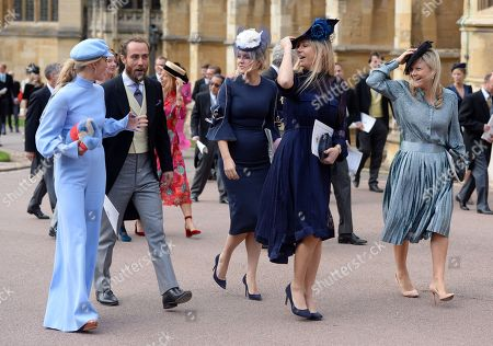 Stock Photo of James Middleton, Chelsy Davy and Lady Melissa Percy
