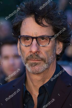 Joel Cohen poses for photographers upon arrival at the premiere of the film 'The Ballad Of Buster Scruggs' showing as part of the BFI London Film Festival in London