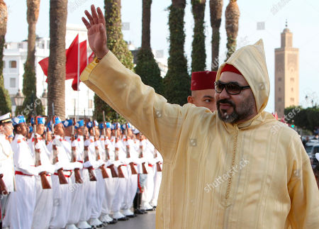 Mohammed VI, Moulay Hassan. Moroccan King Mohammed VI flanked by the crown prince Moulay Hassan back waves to the crowd as he arrives to the the opening session in the Morocco Parliament in Rabat, on . King Mohamed VI outlined policies for the new parliamentary session
