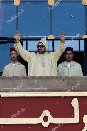 Mohammed VI, Moulay Rachid, Moulay Hassan. Moroccan King Mohammed VI flanked by his brother Prince Moulay Rachid right and the crown prince Moulay Hassan left waves to the crowd as he arrives to the the opening session in the Morocco Parliament in Rabat, on . King Mohamed VI outlined policies for the new parliamentary session