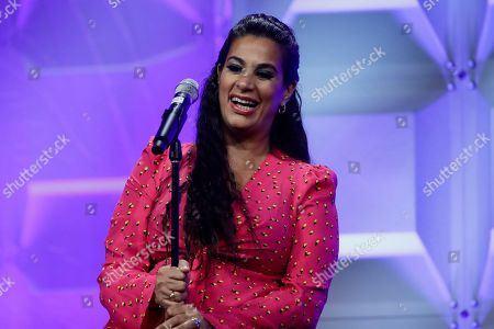 Comedian and disability advocate Maysoon Zayid speaks at the Pennsylvania Conference for Women in Philadelphia