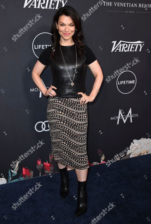 Sera Gamble arrives at Variety's Power of Women event, at the Beverly Wilshire hotel in Beverly Hills, Calif