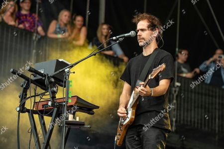 Aaron Dessner of The National performs on day one of the Austin City Limits Music Festival's second weekend, in Austin, Texas