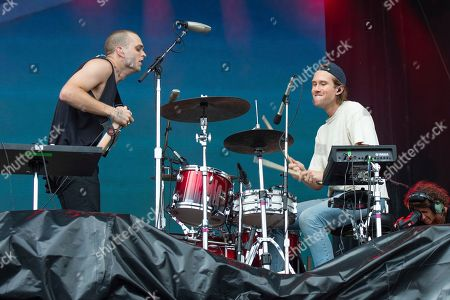 Landon Jacobs, Hayden Coplen. Landon Jacobs, left, and Hayden Coplen of Sir Sly perform on day one of the Austin City Limits Music Festival's second weekend, in Austin, Texas