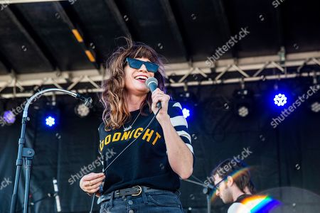 Nicole Atkins performs on day one of the Austin City Limits Music Festival's second weekend, in Austin, Texas