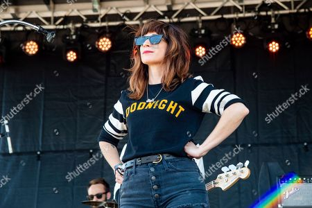 Stock Image of Nicole Atkins performs on day one of the Austin City Limits Music Festival's second weekend, in Austin, Texas