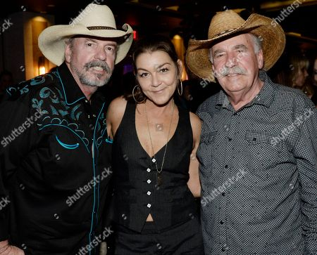 Stock Photo of The Bellamy Brothers - Howard Bellamy and David Bellamy with Singer/Songwriter Gretchen Wilson (center)