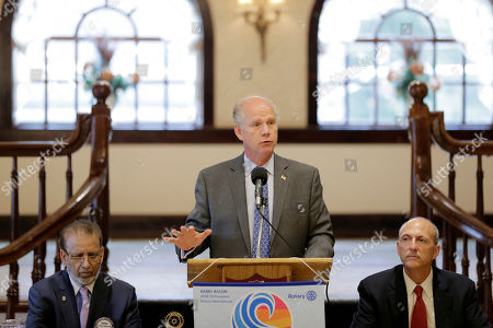 Stock Image of Republican congressman Dan Donovan talks to members of the Rotary Club in Staten Island, New York