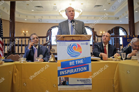 Stock Picture of Republican congressman Dan Donovan talks to members of the Rotary Club in Staten Island, New York