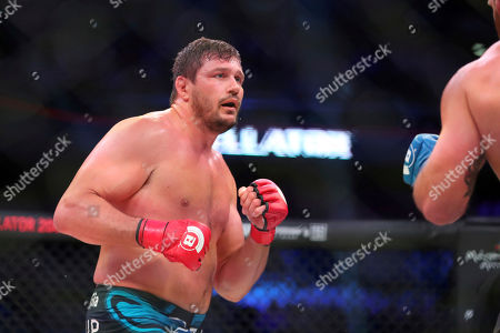 Stock Photo of Matt Mitrione in action against Ryan Bader during a heavyweight mixed martial arts bout at Bellator 207, in Uncasville, CT, on . Bader won via unanimous decision