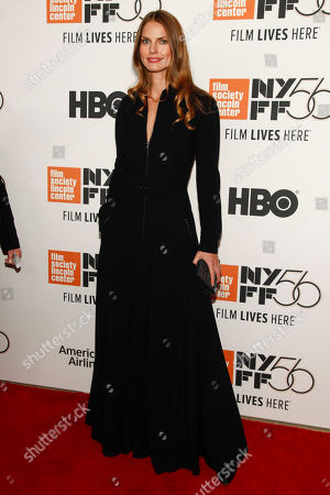 """Stock Picture of May Andersen attends the closing night gala premiere of """"At Eternity's Gate"""" during the 56th New York Film Festival at Alice Tully Hall, in New York"""