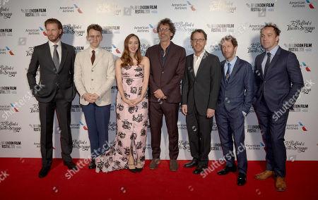 Bill Heck, Harry Melling, Zoe Kazan, Joel Coen, Ethan Coen, Tim Blake Nelson and Jon Jo O'Neill
