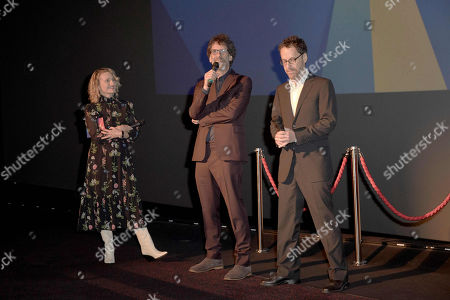 Stock Image of Tricia Tuttle, Joel Coen and Ethan Coen