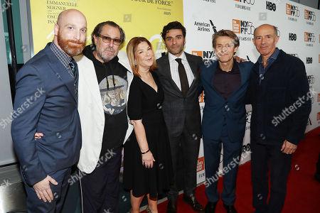 Scott Schooman, Terry Press, Julian Schnabel, Oscar Isaac, Willem Dafoe, Jon Kilik