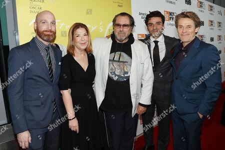 Scott Schooman, Terry Press, Julian Schnabel, Oscar Isaac, Willem Dafoe