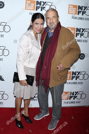 Jean-Claude Carriere (R) with wife Nahal Tajadod