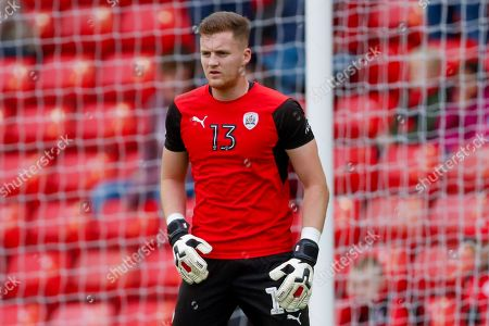 Barnsley goalkeeper Jack Walton (13)  warming up during the EFL Sky Bet League 1 match between Barnsley and Luton Town at Oakwell, Barnsley