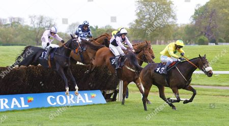 The Young Master and Sam Waley-Cohen win the Coral Champions Club Handicap Chase at Chepstow from Traffic Fluide and Our Kaempfer.