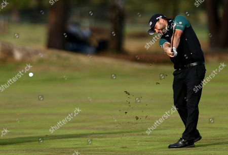Andy Sullivan of England on the 15th hole.