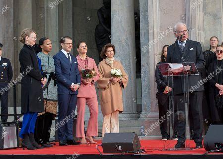 Susanna Pettersson, Alice Bah Kuhnke, Prince Daniel, Crown Princess Victoria, Queen Silvia, King Carl Gustaf