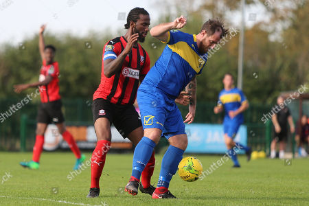 Editorial image of Romford vs Coggeshall Town, Bostik League Division 1 North, Football, Rookery Hill, Corringham, Essex, United Kingdom - 13 Oct 2018