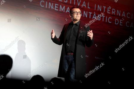 Stock Picture of Sitges Fantastic Film Festival's director Angel Sala speaks during the closing ceremony at the Sitges Fantastic Film Festival, in Sitges, near Barcelona, Spain, 13 October 2018. The event officially runs from 04 to 14 October.