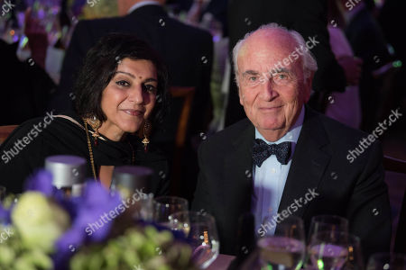 Meera Syal CBE with Lord Lord Young of Graffham.