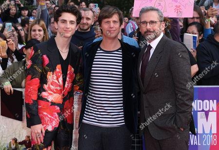 Timothee Chalamet, Felix Van Groeningen and Steve Carell