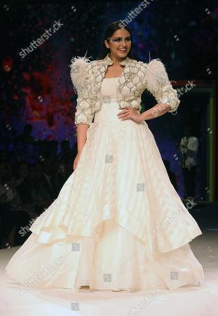 Editorial photo of Rainbow theme fashion show during Lotus Make-up India Fashion Week Spring/Summer 2019, New Delhi - 13 Oct 2018