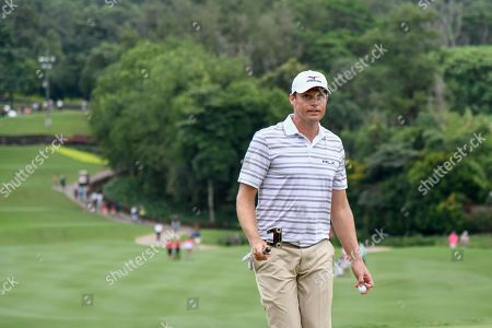 Nick Watney of United States in action during the final round of the CIMB Classic