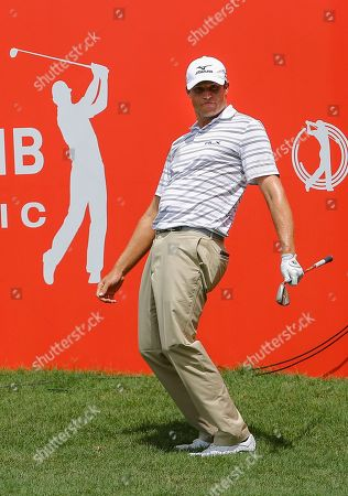 Nick Watney of the USA reacts to his shot during round four of the 2018 CIMB Classic Golf PGA Tour tournament in Kuala Lumpur, Malaysia, 14 October 2018.