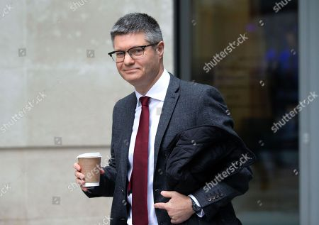Lord Simon Wolfson, Chief Executive of Next, leaves the BBC studios after appeariung on The Andrew Marr Television Show