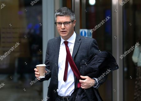 Stock Picture of Lord Simon Wolfson, Chief Executive of Next, leaves the BBC studios after appeariung on The Andrew Marr Television Show