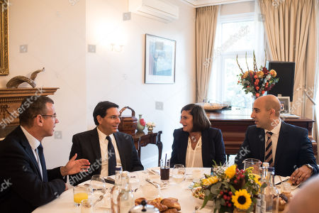 Israeli Ambassador Mark Regev, Ambassador Danny Danon, Chair of UJIA Louise Jacobs, Joe Ozer of Israel Bonds.