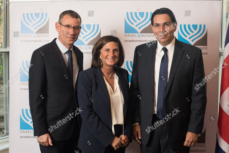 Ambassador Mark Regev with Louise Jacobs, Chair of UJIA, and Ambassador Danny Danon.