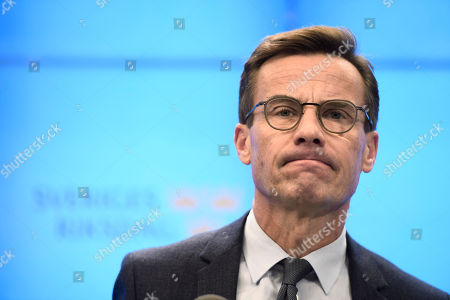 Ulf Kristersson, leader of Sweden's centre-right Moderate party, holds a press conference after his meeting with the Speaker of the Parliament in Stockholm, Sweden, 14 October 2018. Kristersson announced that his attempt to form a government failed.